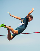RENAUD LAVILLENIE (FRA) wins the Mens Pole Vault competition with a vault of 5.95mm during the second day of the Diamond League event Prefontaine Classic held at the University of Oregons Hayward Field.The Prefontaine Classic is named for University of Oregon track legend Steve Prefontaine.