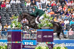 O'CONNER Cian (IRL), Good Luck<br /> Tryon - FEI World Equestrian Games™ 2018<br /> FEI World Individual Jumping Championship<br /> Third cometition - Round A<br /> 3. Qualifikation Einzelentscheidung 1. Runde<br /> 23. September 2018<br /> © www.sportfotos-lafrentz.de/Stefan Lafrentz