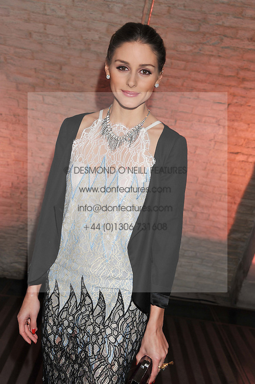 OLIVIA PALERMO at a private view of 'Valentino: Master Of Couture' at Somerset House, London on 28th November 2012.