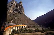"""= The train """"Chihuahua al Pacifico"""" crossing the Sierra Madre  Mexico  /// le train Chihuahua Al Pacifico traverse la Sierra Madre Mexique +"""