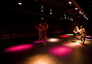 People dance in the Studio Theater room at the CSPS Hall Grand Re-opening in Cedar Rapids on Friday evening, August 26, 2011. About 190 people attended the event which featured a concert by Susan Werner.