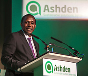 Dr Kandeh Yumkella, Director General of the United Nations Industrial Development Organisation. (UNIDO) speaking at the 2012 Ashden Awards for sustainable energy ceremony at the Royal Geographical Society. London.
