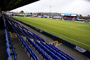 General view of Moss Rose Stadium. EFL Sky Bet League 2 match between Macclesfield Town and Mansfield Town at Moss Rose, Macclesfield, United Kingdom on 16 November 2019.