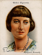 Margaret Moore Kennedy (1896-1967), British novelist and playwright, best remembered for 'The Constant Nymph' (1924) which was dramatized in 1926 and filmed several times. From a series of cards of 'Famous British Authors' (London, 1937).