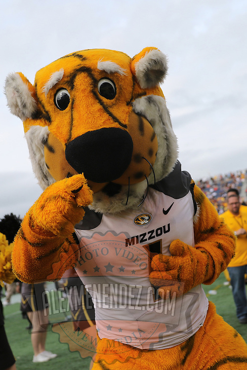 ORLANDO, FL - JANUARY 01:  The Missouri Tigers mascot is seen during the Buffalo Wild Wings Citrus Bowl against the Minnesota Golden Gophers at the Florida Citrus Bowl on January 1, 2015 in Orlando, Florida. (Photo by Alex Menendez/Getty Images) *** Local Caption ***