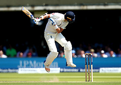 Stuart Broad of England fends off a short ball - Mandatory by-line: Robbie Stephenson/JMP - 07/07/2017 - CRICKET - Lords - London, United Kingdom - England v South Africa - Investec Test Series