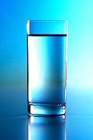 Glass of water - studio shot