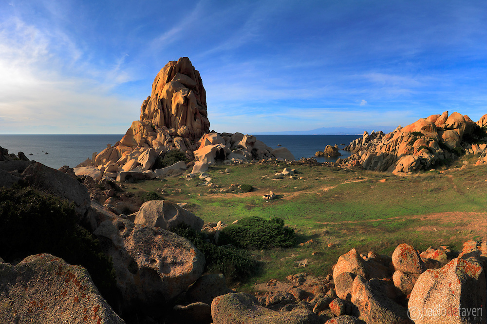 An amazing display of granite rocks at Capo Testa, a wonderful rocky promontory at the very northern tip of Sardinia, Italy