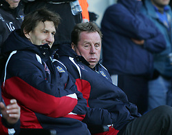 PORTSMOUTH, ENGLAND - SATURDAY, DECEMBER 9th, 2006: Harry Redknapp and Tony Adams of Portsmouth against Everton  during the Premiership match at Fratton Park. (Pic by Chris Ratcliffe/Propaganda)