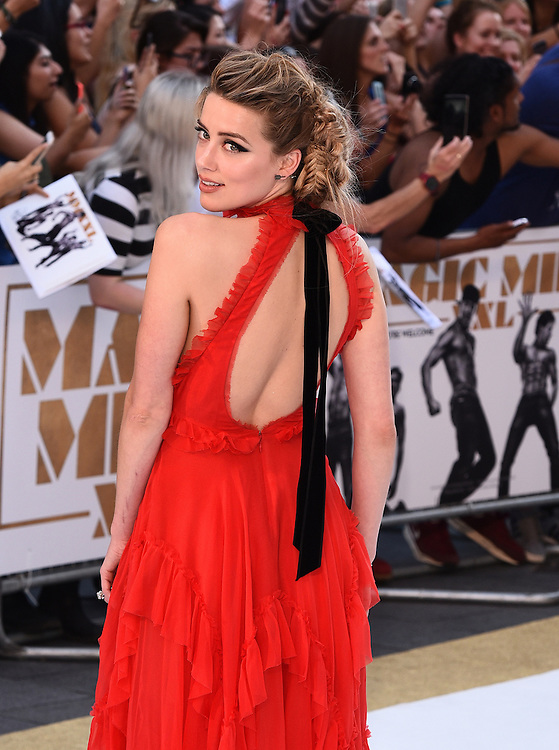 Amber Heard attends Magic Mike XXL European Premiere at Vue West End, Leicester Square, London  on Tuesday 30 June 2015
