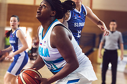 Shante Marie Evans of Slovenia during Women's Basketball - Slovenia vs Slovaska on the 14th of June 2019, Dvorana Poden, Skofja Loka, Slovenia. Photo by Matic Ritonja / Sportida