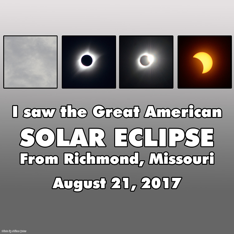 The experience of the Great American Eclipse hinted at with photos taken from Richmond, Missouri, near the line of greatest totality.