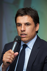 CARDIFF, WALES - Friday, May 18, 2012: Wales manager Chris Coleman during an FAW Coaching course at the Glamorgan Sports Park. (Pic by David Rawcliffe/Propaganda)