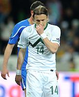 Fussball International, Nationalmannschaft   EURO 2012 Qualifikation, Slowenien - Italien          25.03.2011 Zlatko DEDIC (Slowenien)