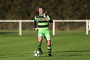 Forest Green Rovers Issy Newns(10) on the ball during the South West Womens Premier League match between Forest Greeen Rovers Ladies and Marine Academy Plymouth LFC at Slimbridge FC, United Kingdom on 5 November 2017. Photo by Shane Healey.