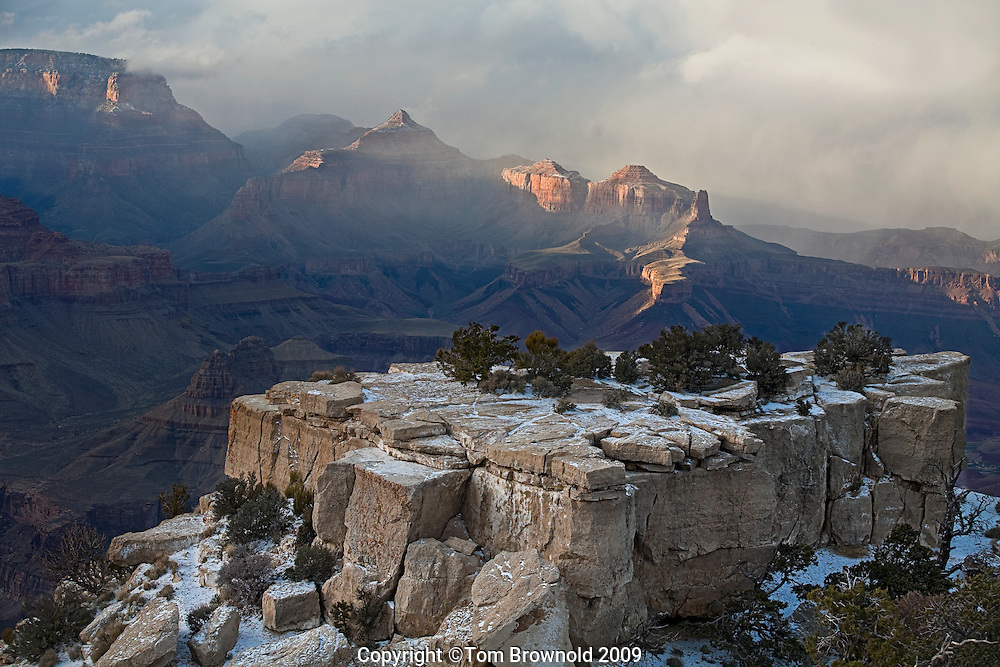 Late season cold front moving over Grand Canyon from Moran Point