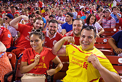 ST. LOUIS, USA - Monday, August 1, 2016: Liverpool supporters during a pre-season friendly game against AS Roma on day twelve of the club's USA Pre-season Tour at the Busch Stadium. (Pic by Concepcion Valadez/Propaganda)