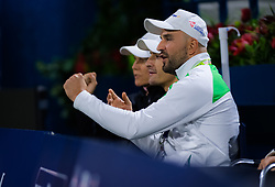 February 19, 2019 - Dubai, ARAB EMIRATES - Karolina Pliskovas Team in action during her second-round match at the 2019 Dubai Duty Free Tennis Championships WTA Premier 5 tennis tournament (Credit Image: © AFP7 via ZUMA Wire)