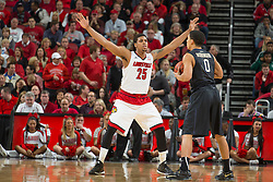 Louisville guard/forward Wayne Blackshear. <br /> <br /> The University of Louisville hosted the University of Pittsburgh, Wednesday, Feb. 11, 2015 at Yum Center in Louisville. <br /> <br /> Photo by Jonathan Palmer