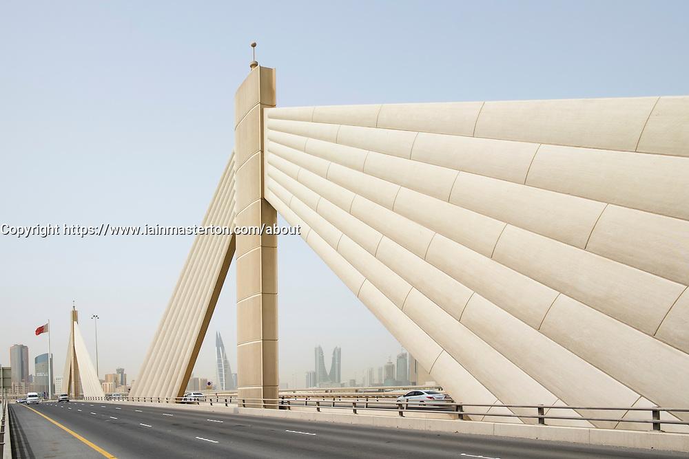Sheikh Isa bin Salman Causeway Bridge in Kingdom of Bahrain