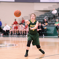 3rd year guard Michaela Kleisinger (2) of the Regina Cougars during the Women's Basketball home game on January 27 at Centre for Kinesiology, Health and Sport. Credit: Arthur Ward/Arthur Images