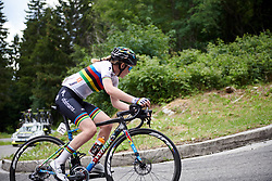 Anna van der Breggen (NED) during Stage 9 of 2019 Giro Rosa Iccrea, a 125.5 km road race from Gemona to Chiusaforte, Italy on July 13, 2019. Photo by Sean Robinson/velofocus.com