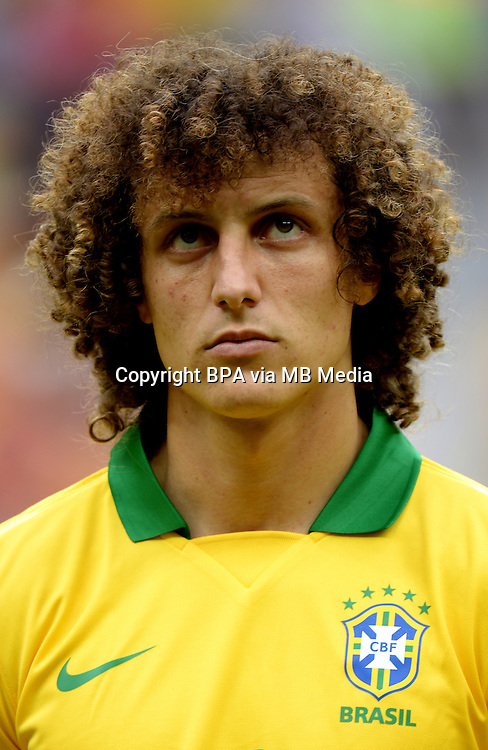 Fifa Brazil 2013 Confederation Cup / Group A Match /<br /> Brazil vs Japan 3-0  ( National / Mane Garrincha Stadium - Brasilia , Brazil )<br /> DAVID LUIZ of Brazil , during the match between Brazil and Japan