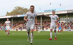 Matt Godden of Peterborough United celebrates scoring - Mandatory by-line: Joe Dent/JMP - 13/10/2018 - FOOTBALL - Glanford Park - Scunthorpe, England - Scunthorpe United v Peterborough United - Sky Bet League One