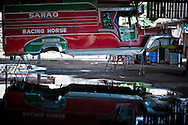 The constriction of a jeeepney, the cheapest and most popular public transportation in the Philippines, is based on a military trucks left by the Americans after the World War II. <br />