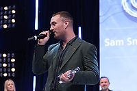 Sam Smith accept his  award during the O2 Silver Clef Awards 2019, Grosvenor House, London, UK, Friday 05 July 2019<br /> Photo JM Enternational