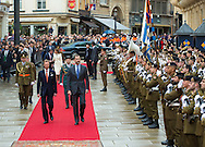Luxemburg, 11-11-2014<br /> <br /> <br /> King Felipe and Queen letizia of Spain are visiting Luxemburg.<br /> <br /> <br /> Photo: Bernard Ruebsamen/Royalportraits Europe