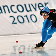 February 17, 2009 - 2010 Winter Olympics - Speedskating - Elli Ochowicz competes in the 1000m distance held at the Richmond Olympic Oval.