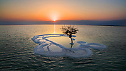 Sun rising over the Dead Sea, Israel