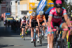 Roxanne Knetemann (NED) of Team Netherlands finishes on Stage 1 of the Lotto Thuringen Ladies Tour - a 124.8 km road race, starting and finishing in Schleiz on July 13, 2017, in Thuringen, Germany. (Photo by Balint Hamvas/Velofocus.com)