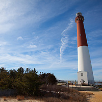 "Barnegat Lighthouse, colloquially known as ""Old Barney"", is located in Barnegat Lighthouse State Park on the northern tip of Long Beach Island, in the borough of Barnegat Light, New Jersey, in the United States. Situated along the Barnegat Inlet, it is the fourth-tallest lighthouse in the United States."