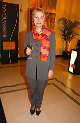 VIRGINIA BOTTOMLEY at a reception for the winners of the 2006 Veuve Clicquot Award - Business Woman of the Year held at Claridge's Hotel, brook Street, London on 27th April 2006.  This years winner was Vivienne Cox, BP CEO for Gas, Power, Renewables and Integrated Supply & Trading.  The awards were presented by the Rt.Hon.Gordon Brown MP - The Chancellor of the Exchequer.<br />