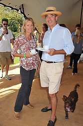 ANDREW LANGTON and VISCOUNTESS COWDRAY at a cricket match to in aid of CARE - Corfu Animal Rescue Establishment held at Hawkley Cricket Club, Hawkley, Hampshire on 8th September 2012.