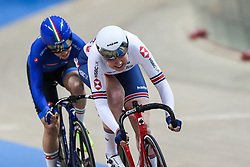 March 1, 2019 - Pruszkow, Poland - Katie Archibald (GBR) Letizia Paternoster (ITA) omnium tempo race on day three of the UCI Track Cycling World Championships held in the BGZ BNP Paribas Velodrome Arena on March 01, 2019 in Pruszkow, Poland. (Credit Image: © Foto Olimpik/NurPhoto via ZUMA Press)