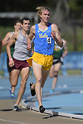 Apr 14, 2018; Los Angeles, CA, USA; George Gleason of UCLA places fourth in the 1,500m in 3:45.92 during the Rafer Johnson/Jackie joyner-Kersee Invitational at Drake Stadium.