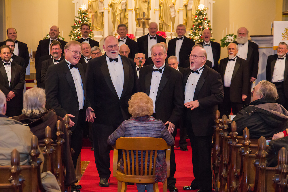Akron Derbytown Chorus performs at First Night Akron 2015