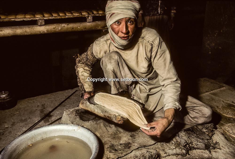 Afghanistan. A Kabul Baker  Kabul  Afghanistan     /Boulanger à Kaboul  Kaboul  Afghanistan   /    L0007435  /  AFG021  /  P111265