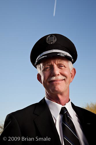 Captain Chesley Sullenberger, pilot of US Airways Flight 1549, that landed in the Hudson River, Januar y 15 2009.  Photographed in Phoenix AZ, April 2009.