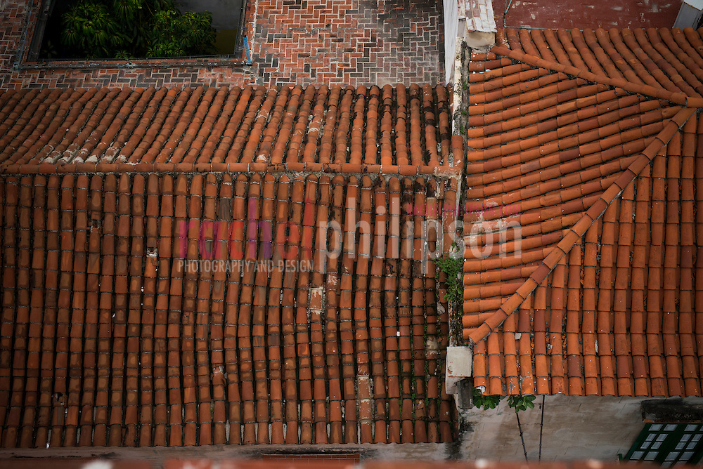 Havana, Cuba, street views, architecture, old havana, habana vieja, view from hotel ambos mundo, roofs