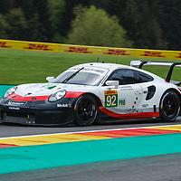 #92, Porsche GT Team, Porsche 911 RSR, LMGTE Pro, driven by: Michael Christensen, Kevin Estre at FIA WEC Spa 6h 2019 on 04.06.2019 at Circuit de Spa-Francorchamps, Belgium