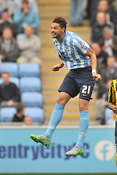 Aaron Martin Coventry City, Aaron Martin Coventry City, Coventry City v Shreswsbury Town FC  Ricoh Arena, Football Sky Bet League One, Saturday 3rd October 2015