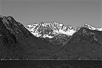 Seward Mountain Views Black and White