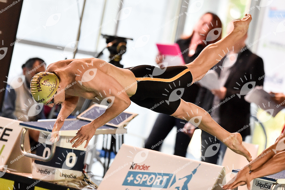 Luca Leonardi Fiamme Oro<br /> 100 stile libero uomini<br /> Riccione 19-04-2016 Stadio del Nuoto <br /> Campionati Italiani Nazionali Assoluti Nuoto Primaverili Fin <br /> Photo Andrea Staccioli/Deepbluemedia/Insidefoto