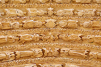 France, Cher (18), Bourges, cathédrale Saint-Etienne de Bourges, site classé Patrimoine mondial de l'UNESCO, façade occidentale, le portail central, sculpture gothique représentant le Jugement dernier // France, Cher (18), Bourges, St Etienne cathedral, UNESCO world heritage, The Last Judgement, Western portal
