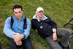 Denis Zvegelj and Coach Milos Jansa at 51st Prvomajska Regatta Bled 2010, on April 25, 2010, at Lake Bled, Bled, Slovenia. (Photo by Vid Ponikvar / Sportida)