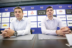 New head coach of ACH Volley Igor Kolakovic and his assistant Dragan Kobiljski at  their introduction at press conference, on May 26, 2010 in ACH, Ljubljana, Slovenia. (Photo by Vid Ponikvar / Sportida)